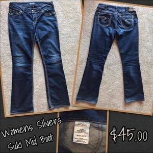 Silver Suki Mid boot jeans.